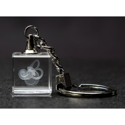 Ear Process Crystal Key Chain front view