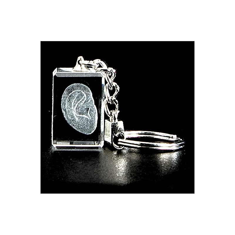Outer Ear Crystal Key Chain