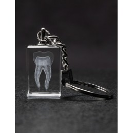 Tooth Crystal Key Chain Front View