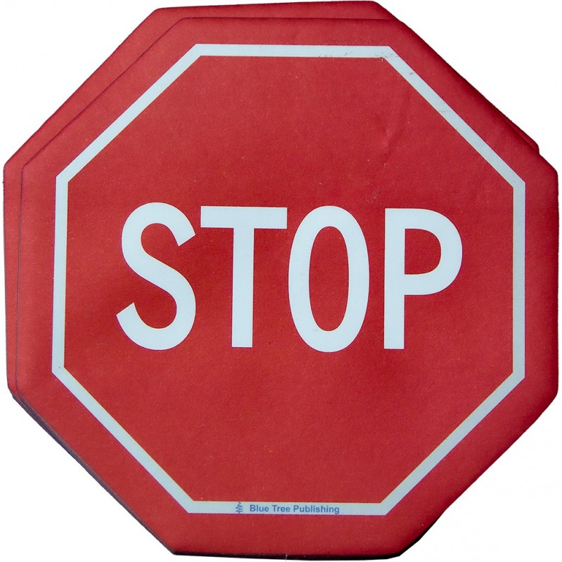 Stop Road Sign Stick Note 2 pack