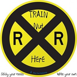 Railroad Crossing Road Sign Stick Note example