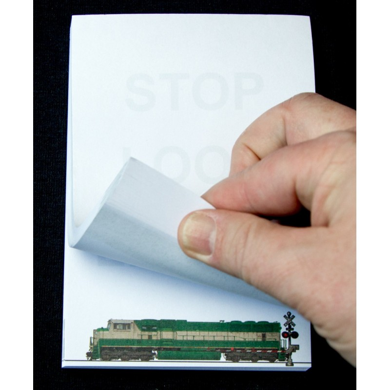 Railroad Safety Flip Note Pad