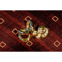 Cochlea Gold Pin