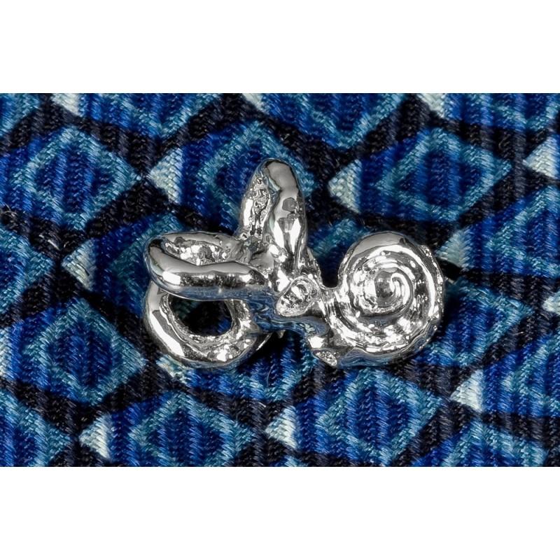 Cochlea Silver Pin