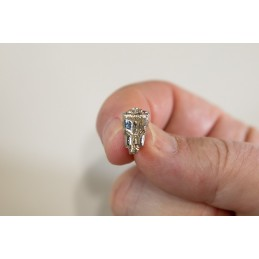 Larynx Silver Pin