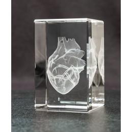 Heart Crystal Art 1lb diagonal view