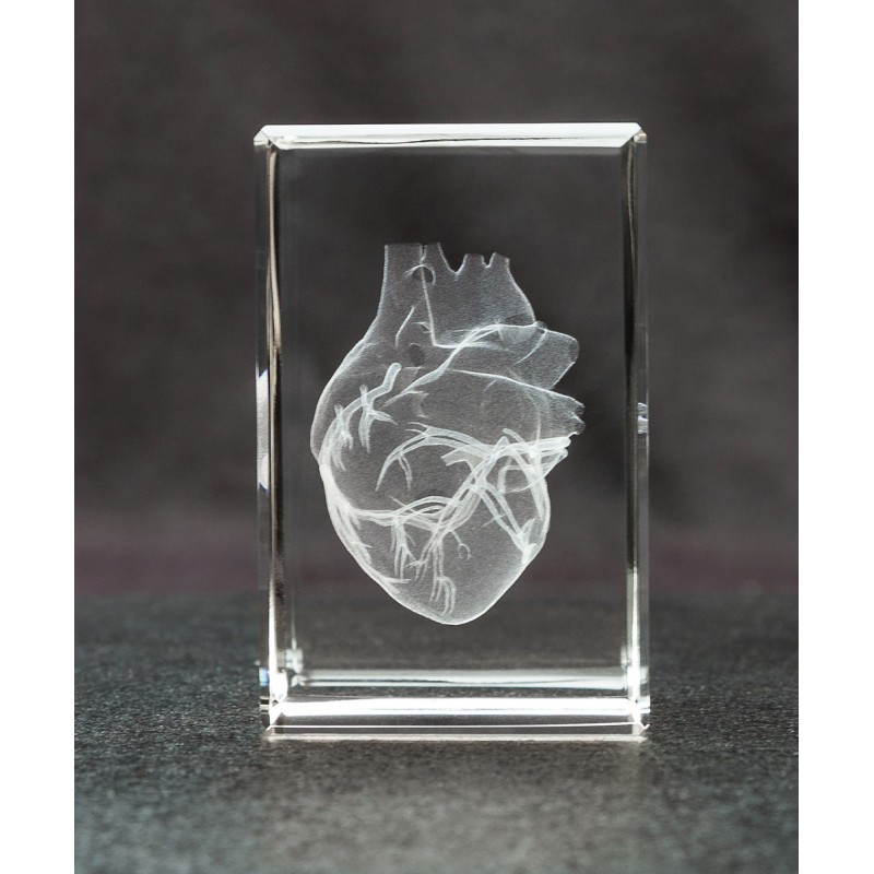 Heart Crystal Art 1lb front view