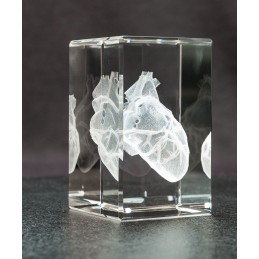 Heart Crystal Art 1lb left view