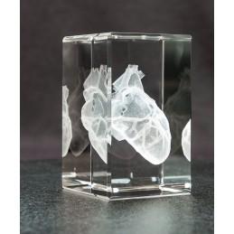 Heart Crystal Art 1lb left view