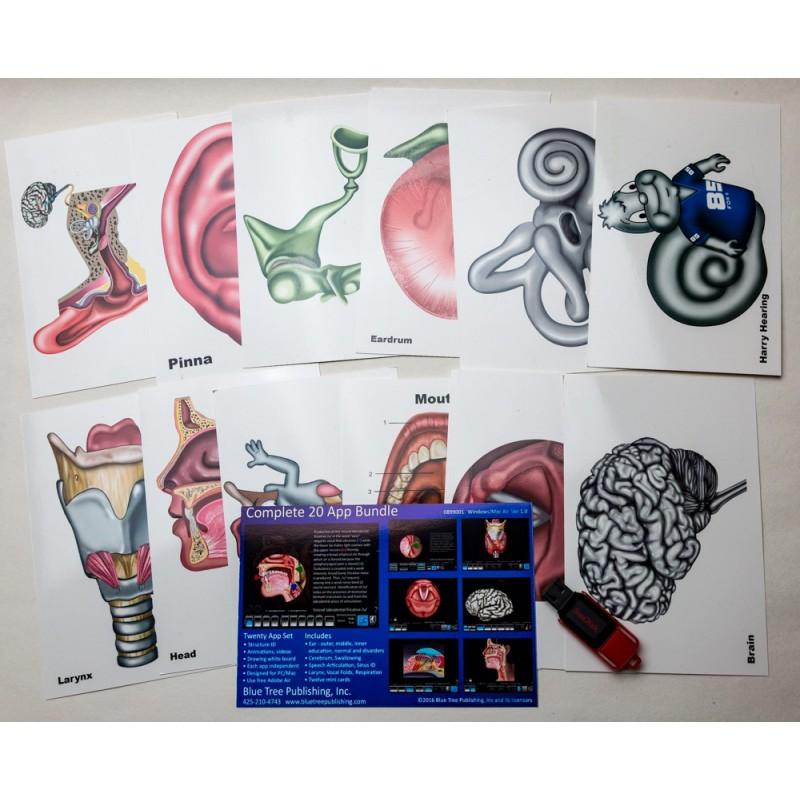 Complete 20 App Set w/Mini Anatomical Charts