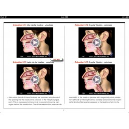 Speech Articulation iBook video content