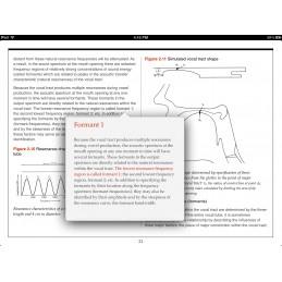 Speech Articulation iBook info pop up