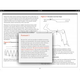 Speech Articulation iBook info pop up
