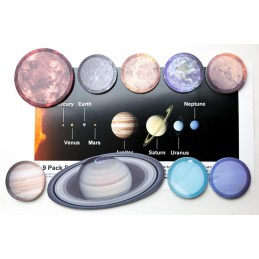 Solar System Stick Note set
