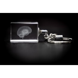 Brain Crystal Key Chain