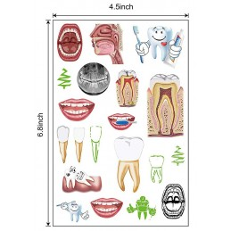 Dental Tattoo size