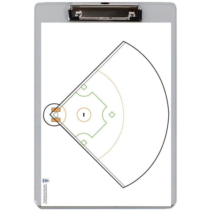 Baseball Dry Erase Clipboard front