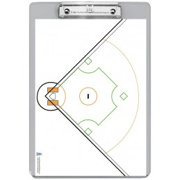 Baseball Dry Erase Clipboard back