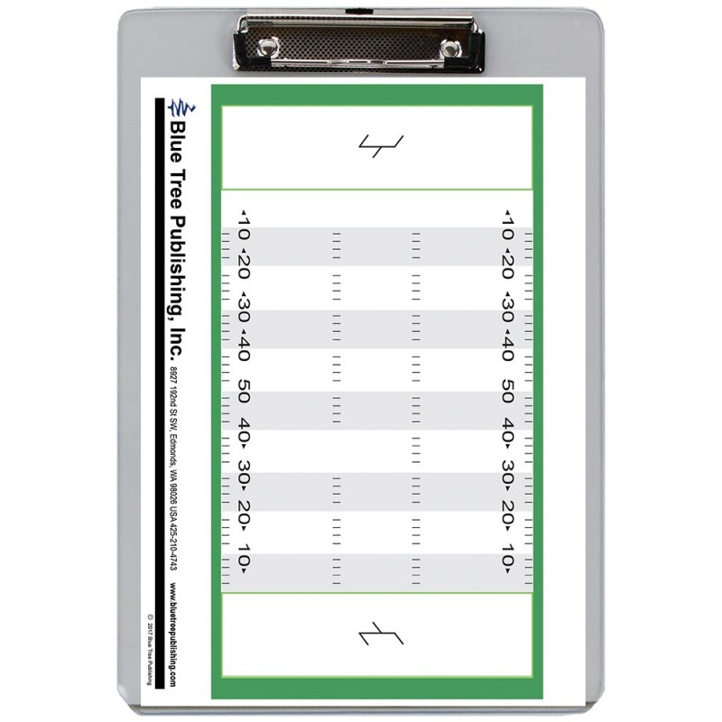 Football Dry Erase Clipboard front