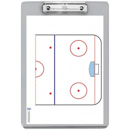 Hockey Dry Erase Clipboard back