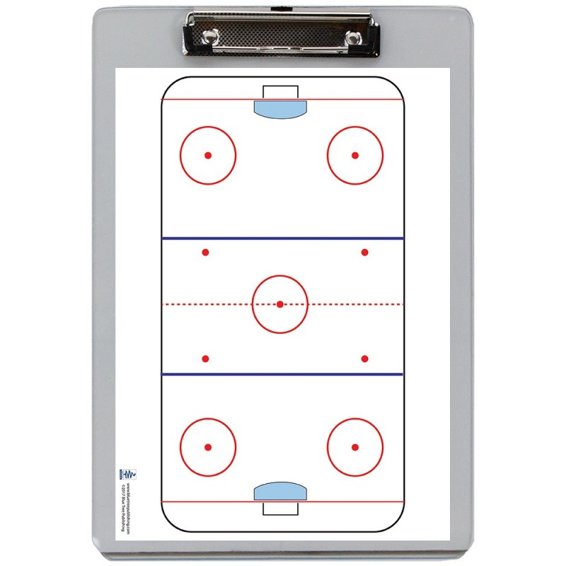 Hockey Dry Erase Clipboard front
