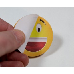 Emoticon Stick Note peel off