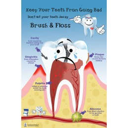 Brush and Floss Medium Poster