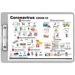 Coronavirus Disease Covid-19 Dry Erase Clipboard back