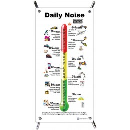 Daily Noise Small Poster with stand