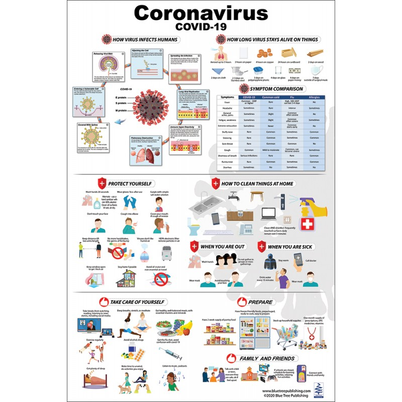 Coronavirus Disease Covid-19 Large Poster