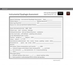 Swallowing Computer App - printable dysphagia assessment