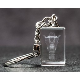 Larynx Crystal Key Chain front view