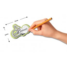 Cochlea Stick Note dimensions