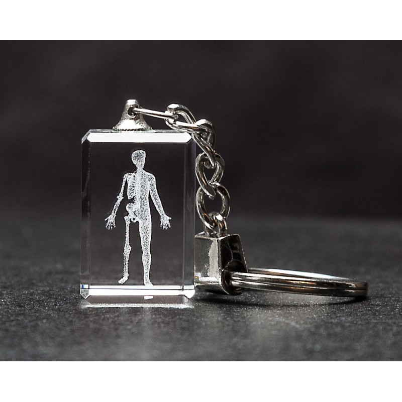 Body Crystal Key Chain front view